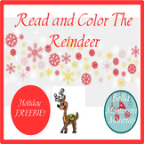 Read & Color  - Holiday Reindeer