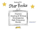 Set A- Kindergarten High Frequency Words Books (set of 10 books)- Read & Color