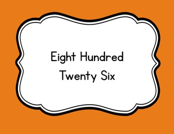 Read & Color Number Words Interactive Math Puzzle with Numbers 801 - 900 Pumpkin