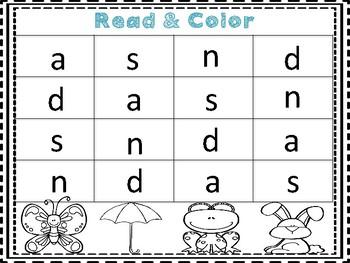 Read & Color Phonics Activity- Letter Recognition