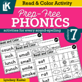 Read & Color | Prep-Free Phonics | Distance Learning