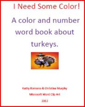 Read Color Words and Count the Turkeys
