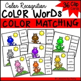 Read Color Words and Match Colors Clip Center (Kindergarte
