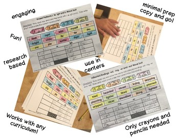 Read, Color and Write Word Sorts for Unit 1 of 2nd Grade Reading Street