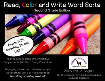 Read, Color and Write Word Sorts for Unit 6 of 2nd Grade Reading Street