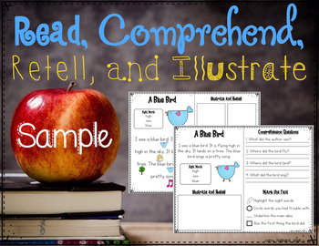 Read, Comprehend, Retell, and Illustrate SAMPLE