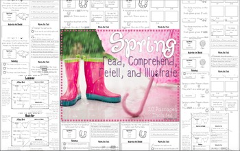 Reading Comprehension Passages and Questions~ Spring Reading Passages