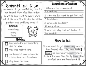 Reading Comprehension Passages and Questions~ Valentine's Day Edition