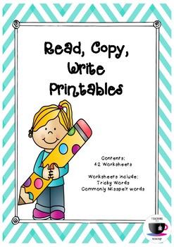 Read, Copy, Write Printables - Tricky Words