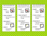 Read, Cover, Remember, Retell Bookmarks
