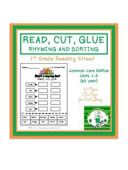 Read, Cut, Glue Rhyming and/or Sorting Gr. 1