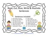 Read Cut Glue Write and Illustrate set 2