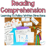 Reading Comprehension Of Written Directions- Learn To Read & Follow Directives