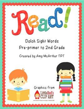 Read!! Dolch Sight Words ~ Pre-primer to 2nd grade
