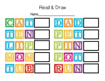 Read & Draw CVC words