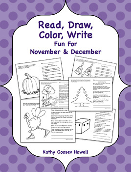 Read, Draw, Color, Write, Fun For November & December