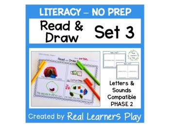 Read & Draw 'Letters & Sounds' Phase 2 - NO PREP