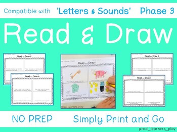 Read & Draw 'Letters & Sounds' Phase 3 - NO PREP