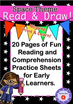 Read & Draw - SPACE THEME Reading and Comprehension for Early Readers