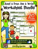 Read & Draw  See & Write Worksheet Bundle