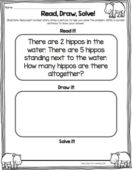 Read, Draw, Solve! {Zoo} Primary Number Stories for Primary Numbers