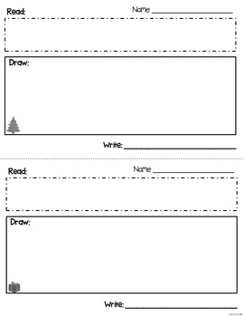 Read, Draw, Write Christmas Word Problems