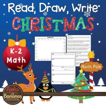 Christmas Math - Read, Draw, Write Word Problems