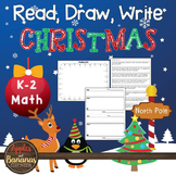 Christmas Math - Read, Draw, Write Word Problems
