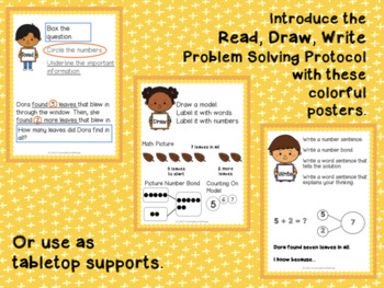 Read Draw Write Engage NY Problem Solving Posters First Grade