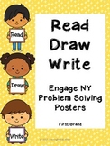 Read Draw Write Engage NY Problem Solving Posters/TabletopSupports First Grade