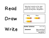 Read, Draw, Write - Mini Anchor Chart