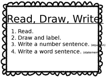 Read, Draw, Write Poster