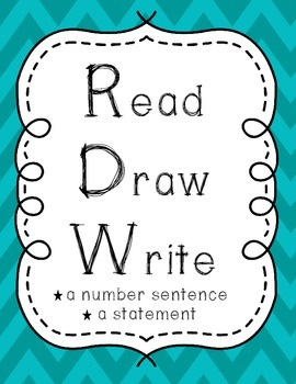 Read Draw Write RDW Math Strategy Poster