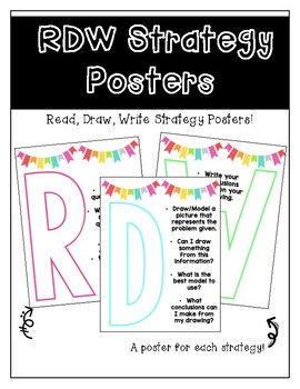 Read Draw Write Strategy Posters