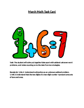 Read Draw and Write Math problem