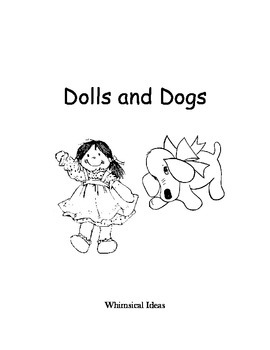 Read & Draw storybook for young readers (Dolls & Dogs)