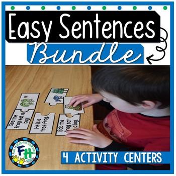 Read Easy Sentences Activity Centers {Bundle of 4 Centers}