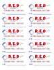 Read Every Day (RED) Student Folder Labels - Printable Avery 5163  - Numbered