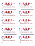 Read Every Day (RED) Student Folder Labels - Printable Avery 5163  - #1-40