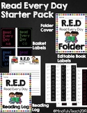 Read Every Day Starter Pack for Home Reading {Editable Labels}