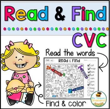 Read & Find CVC - Hidden Picture Puzzles