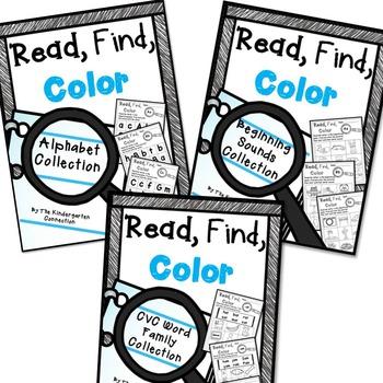 Read, Find, Color The BUNDLE
