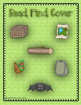 Read, Find, Cover {CVC, Rhyme}