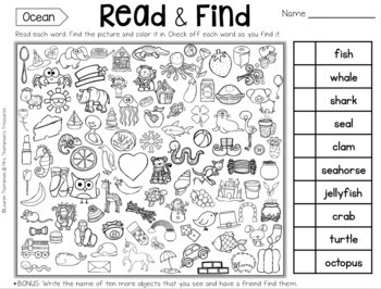 Read & Find - Hidden Picture Puzzles {Holidays/Seasons}