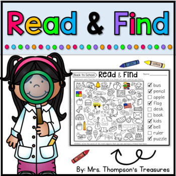 Read & Find Hidden Picture Puzzles - End of Year Activities