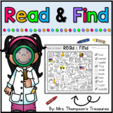 Read & Find Hidden Picture Puzzles - First Day of School Activities