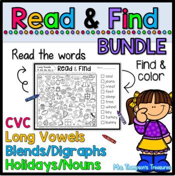 Read & Find Hidden Picture Puzzles BUNDLE