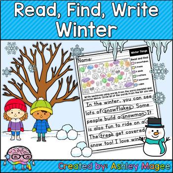 Read, Find, Write: Writing Activity Center Seasonal Bundle