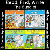 Read, Find, Write: Writing Activity Center Seasonal Bundle