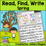 Read, Find, Write Spring - A writing center activity